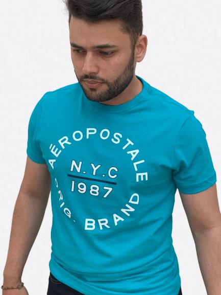 Camiseta Manga Curta Preminum Estampa - AEROPOSTALE
