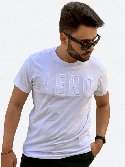 Camiseta Manga Curta Relevo AERO - AÉROPOSTALE