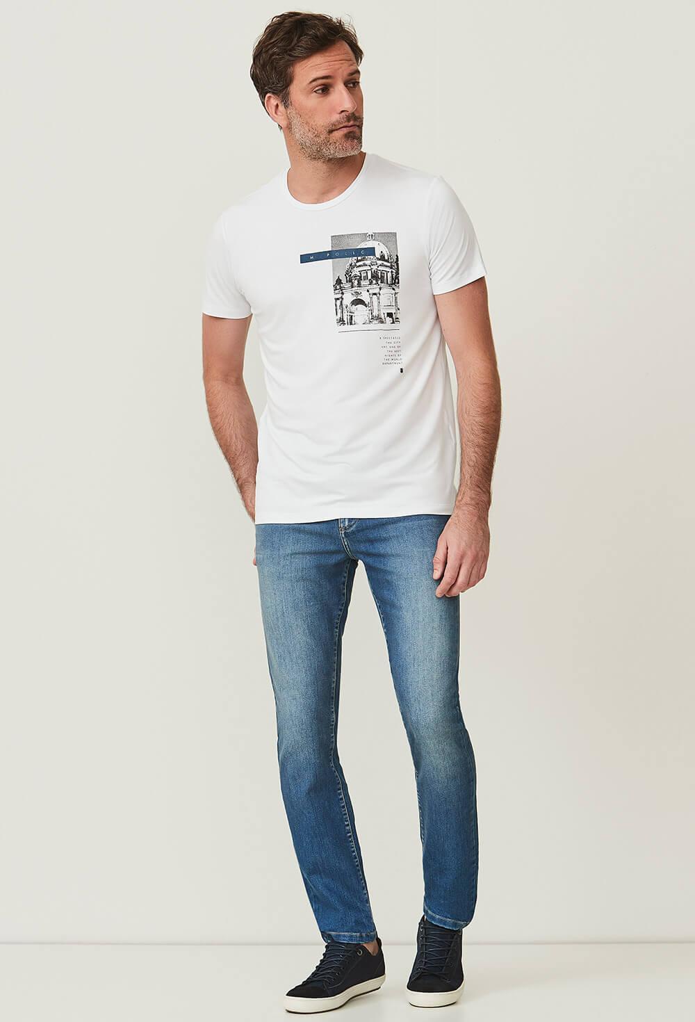 Camiseta Slim Manga Curta Vis Up Spectacle - M.POLLO