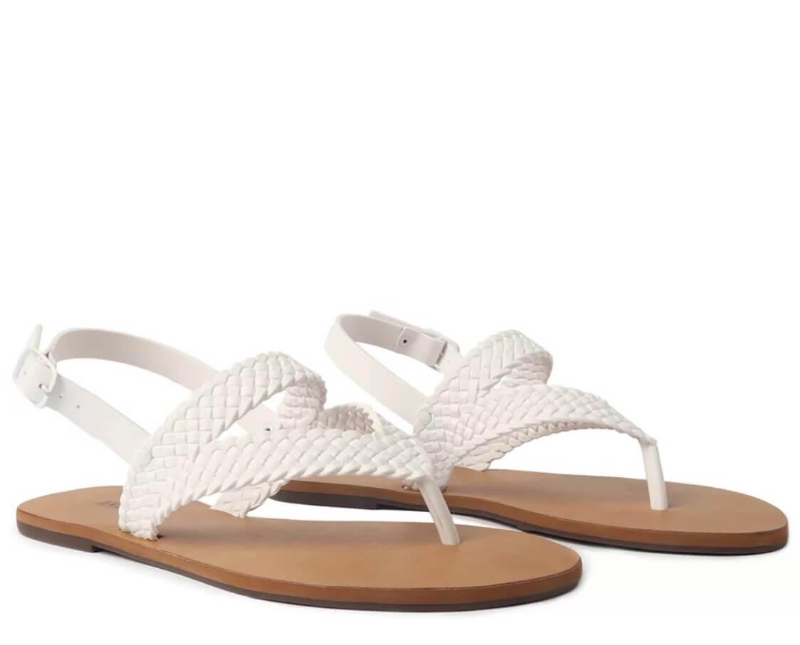 Sandália Branca Rasteira Tiras Trançadas Color Vibes - ANACAPRI