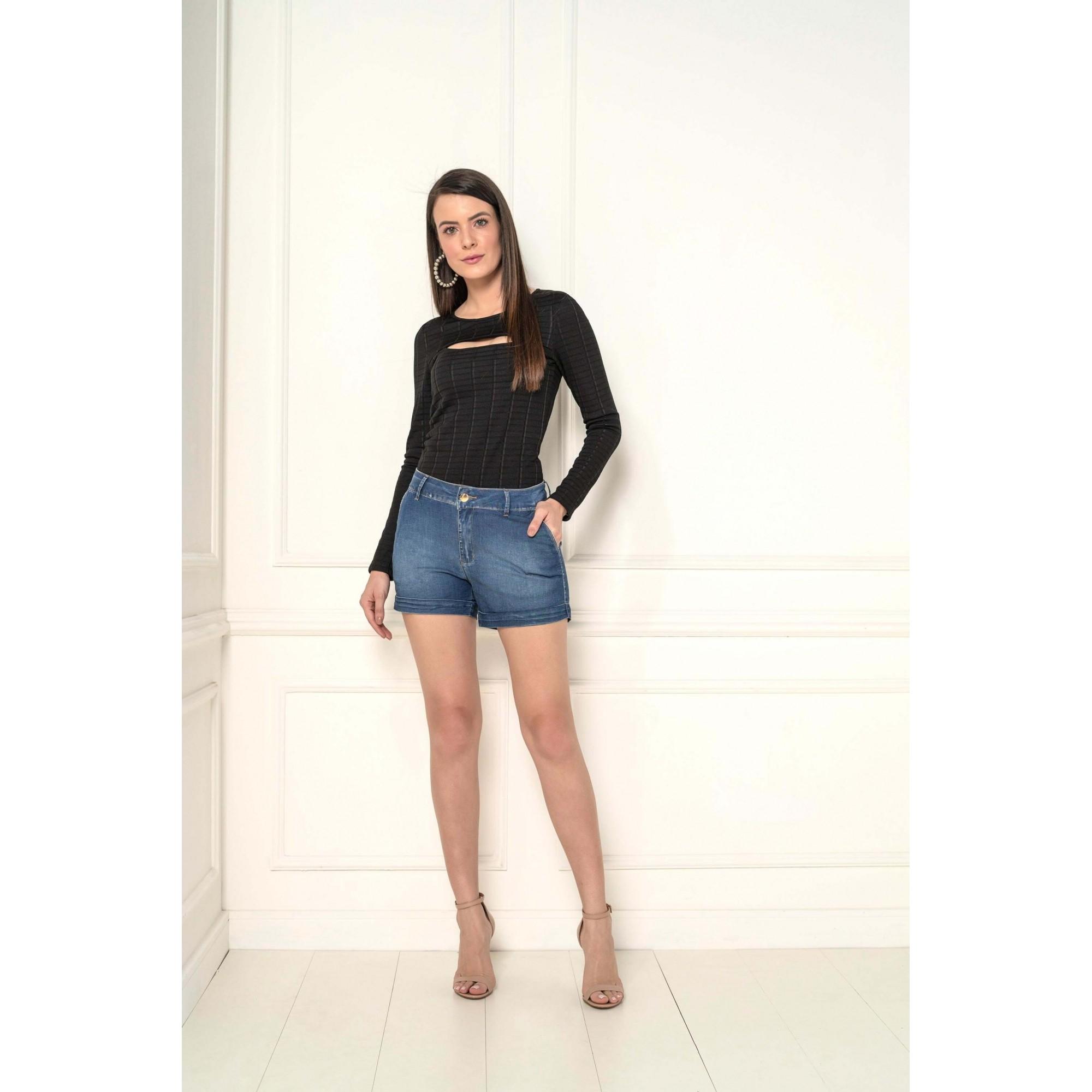 Shorts Feminino Relax Lycra Jeans k34905 - KACOLAKO