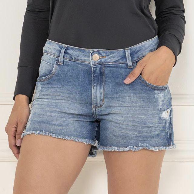 Shorts Feminino Relax Lycra Jeans -  KACOLAKO
