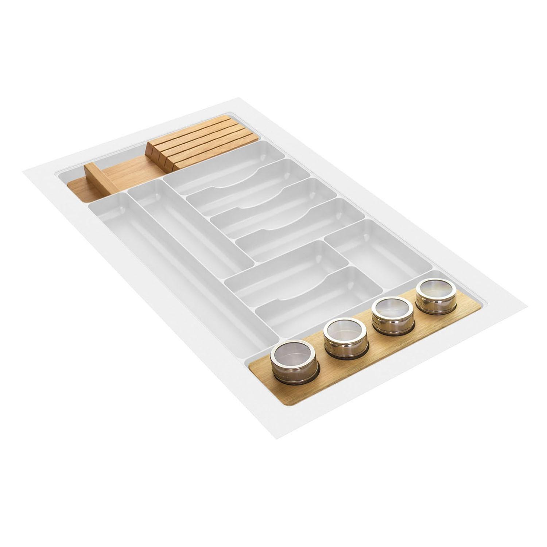LJ-0807FP - Divisor 820x480mm - 11 separadores - c/ Complementos de Madeira