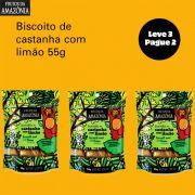 Leve 3 Pague 2 Biscoito de Castanha com Limão - 55g