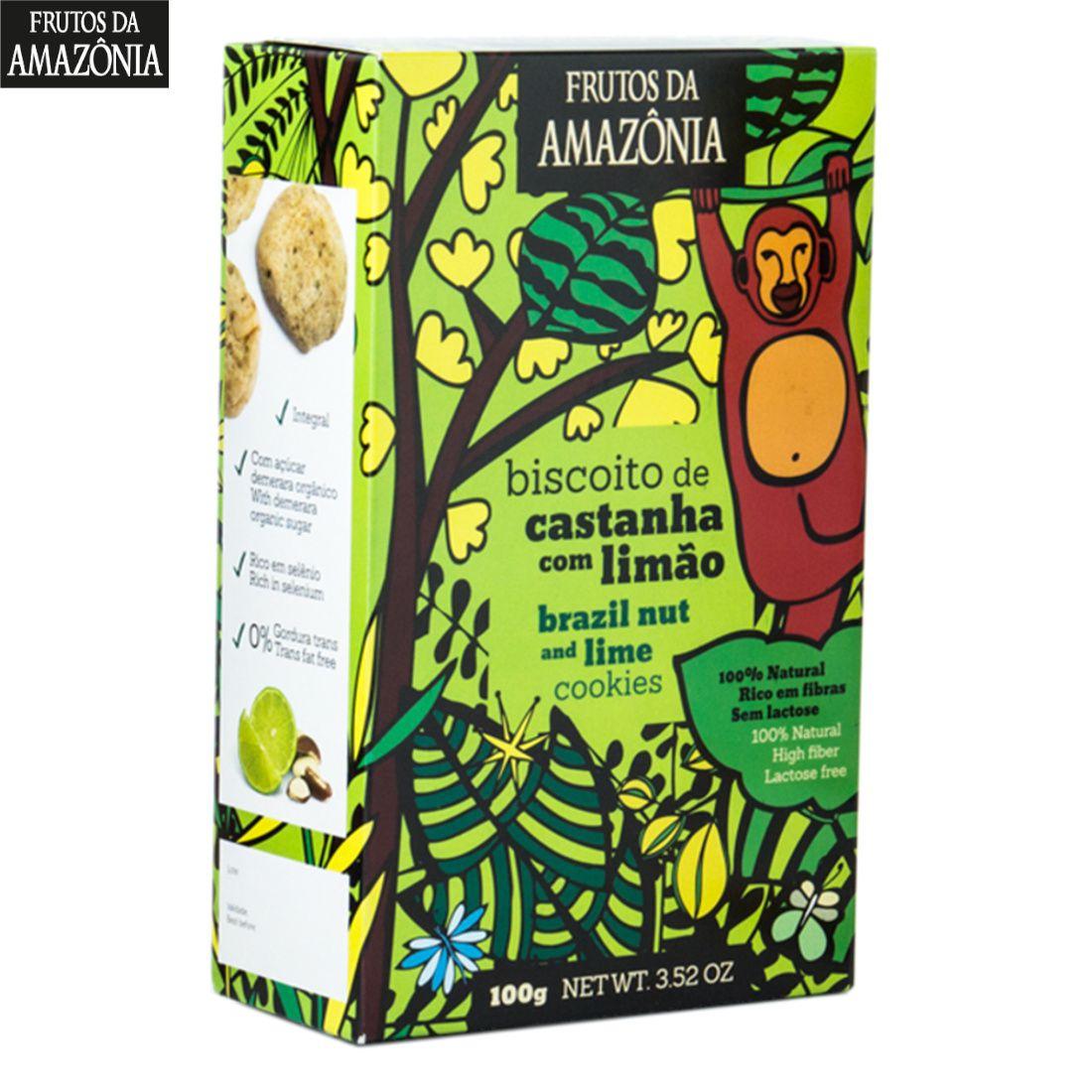 BISCOITO DE CASTANHA DO PARÁ COM LIMÃO | 100G  - Frutos da Amazônia