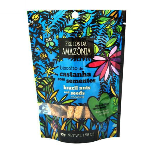 BISCOITO DE CASTANHA DO PARÁ COM SEMENTES | 45G  - Frutos da Amazônia