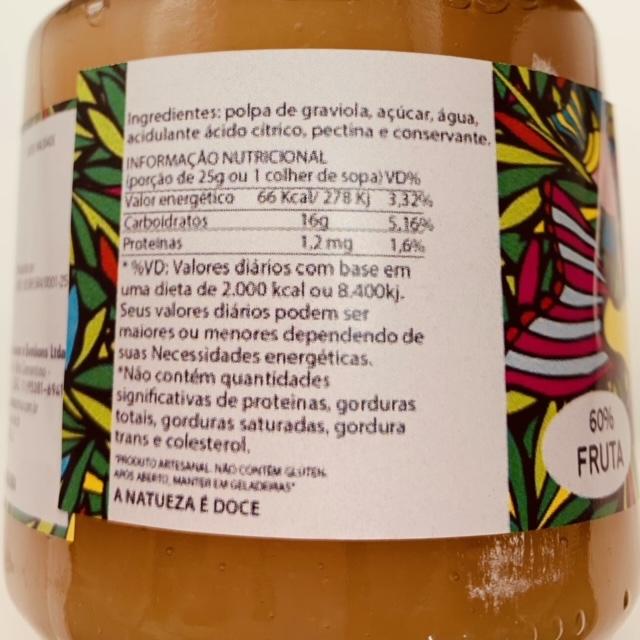 GELEIA DE GRAVIOLA  - Frutos da Amazônia