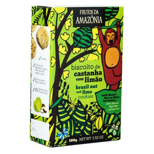 KIT 05 CAIXAS - Biscoitos Castanha do Pará com Limão (100g)