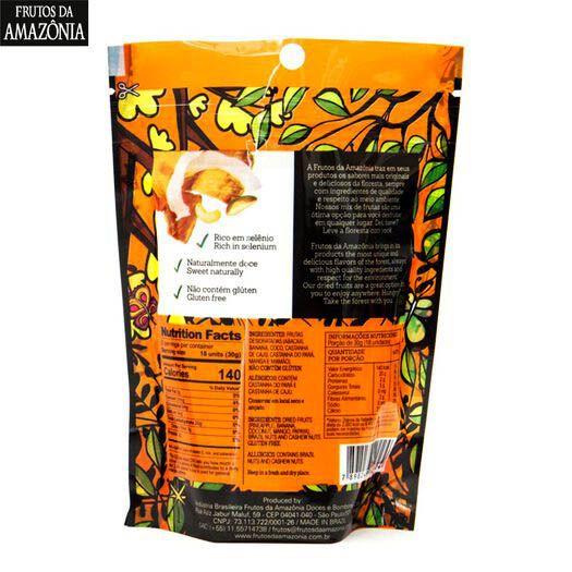 MIX DE FRUTAS DESIDRATADAS | 55G  - Frutos da Amazônia
