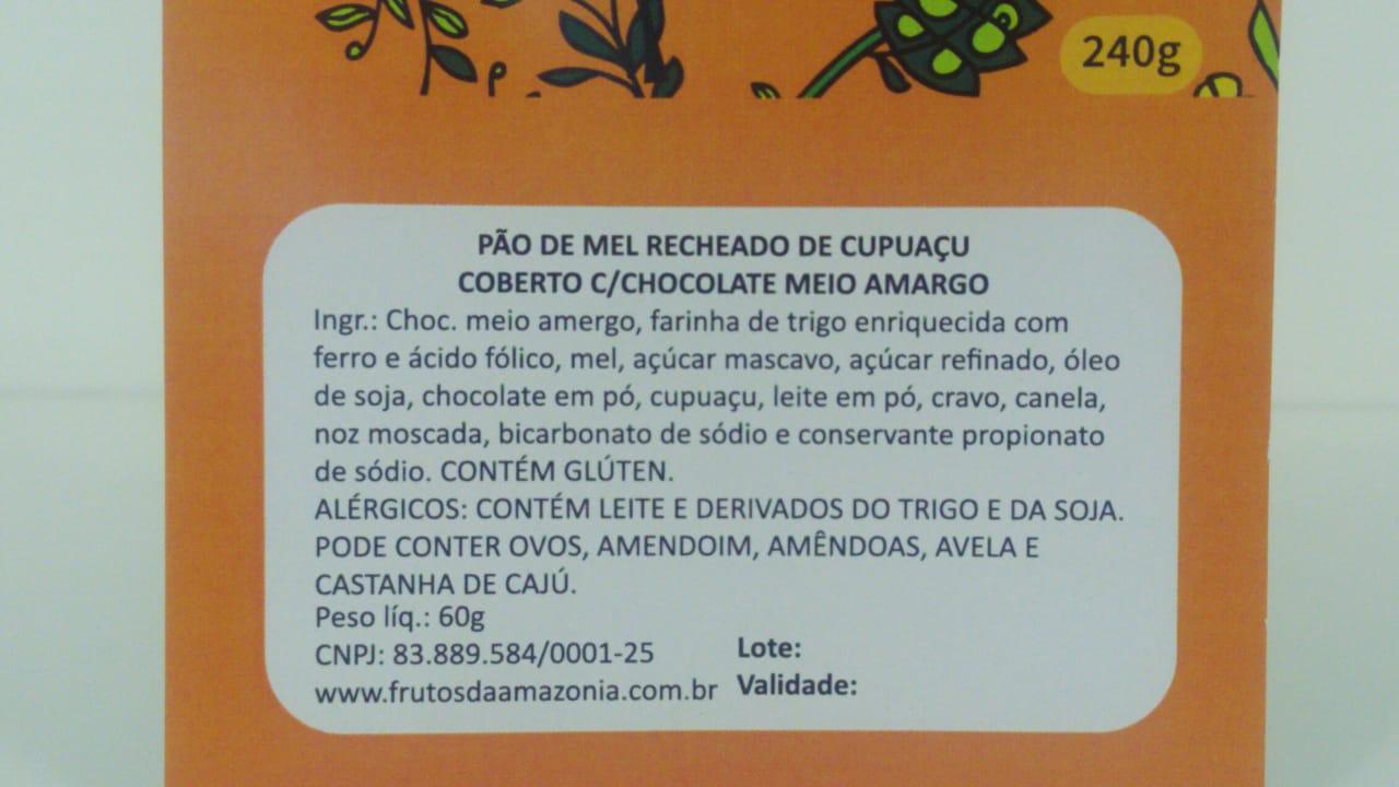 PÃO DE MEL COM CUPUAÇU   - Frutos da Amazônia