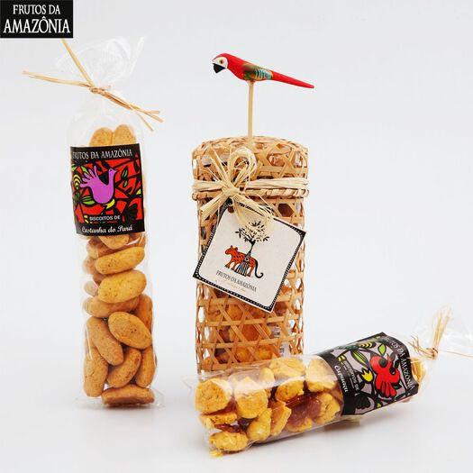 Tubo com 2 tipos de Biscoito  - Frutos da Amazônia