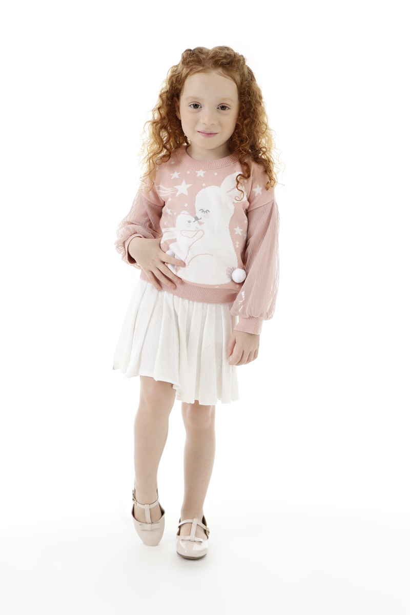 Blusa Tricot Infantil Menina Arilane