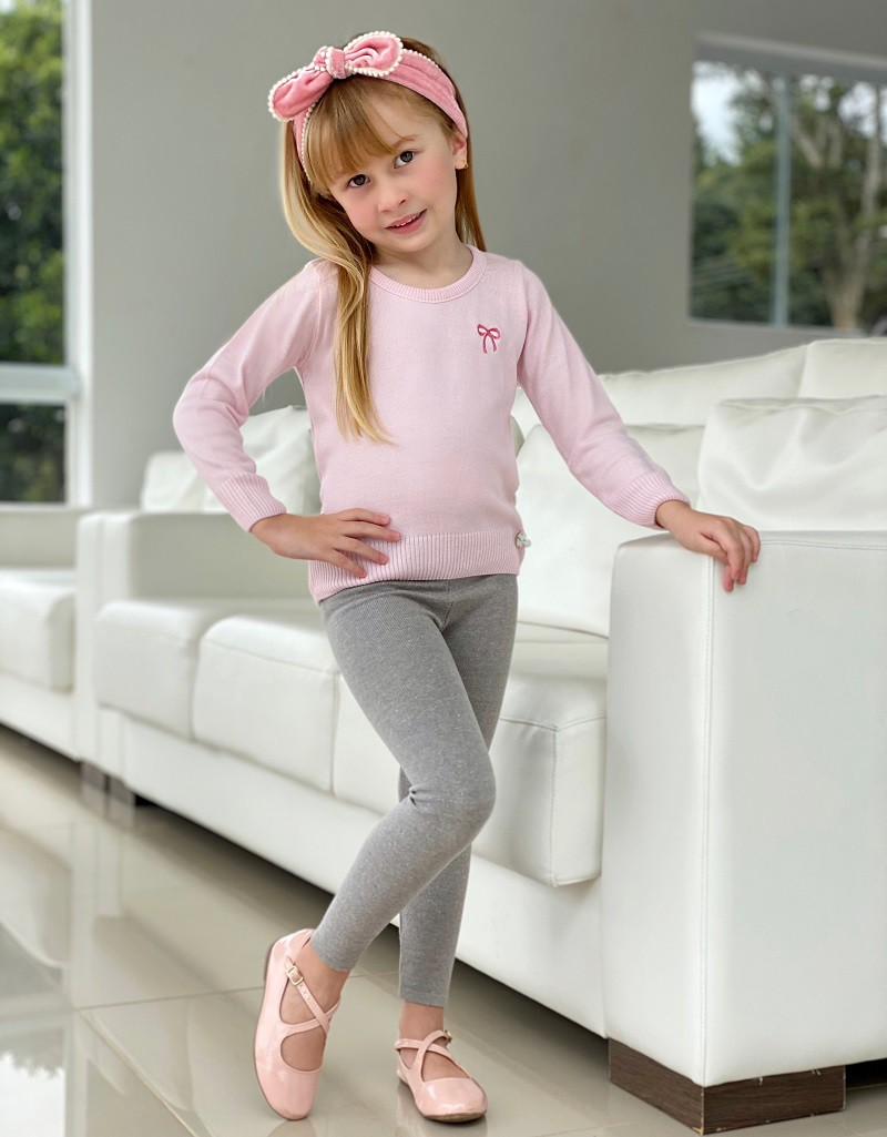 Blusa Tricot Infantil Menina Lia