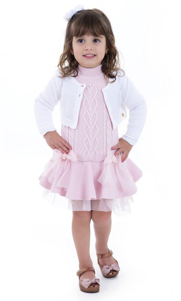 Bolero Tricot Infantil Menina Miss