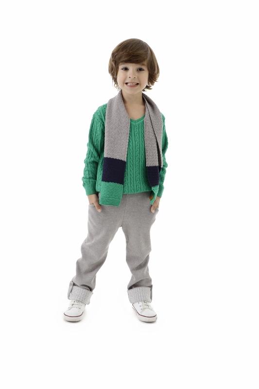 Cachecol Tricot Infantil Menino Kaique