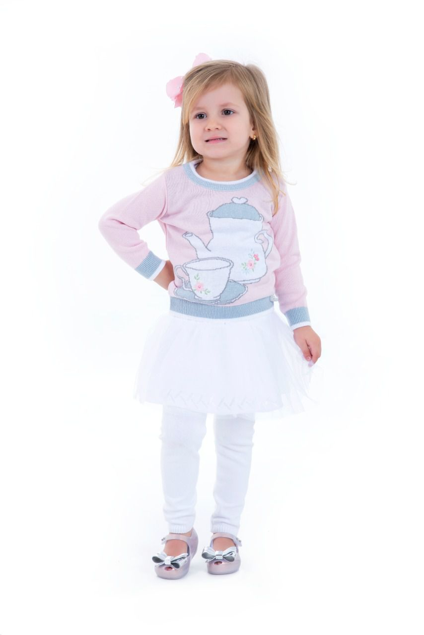 Calça Tricot Infantil Menina Isabella