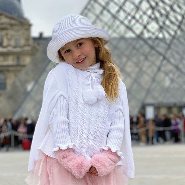 Capa Tricot Infantil Menina Luna