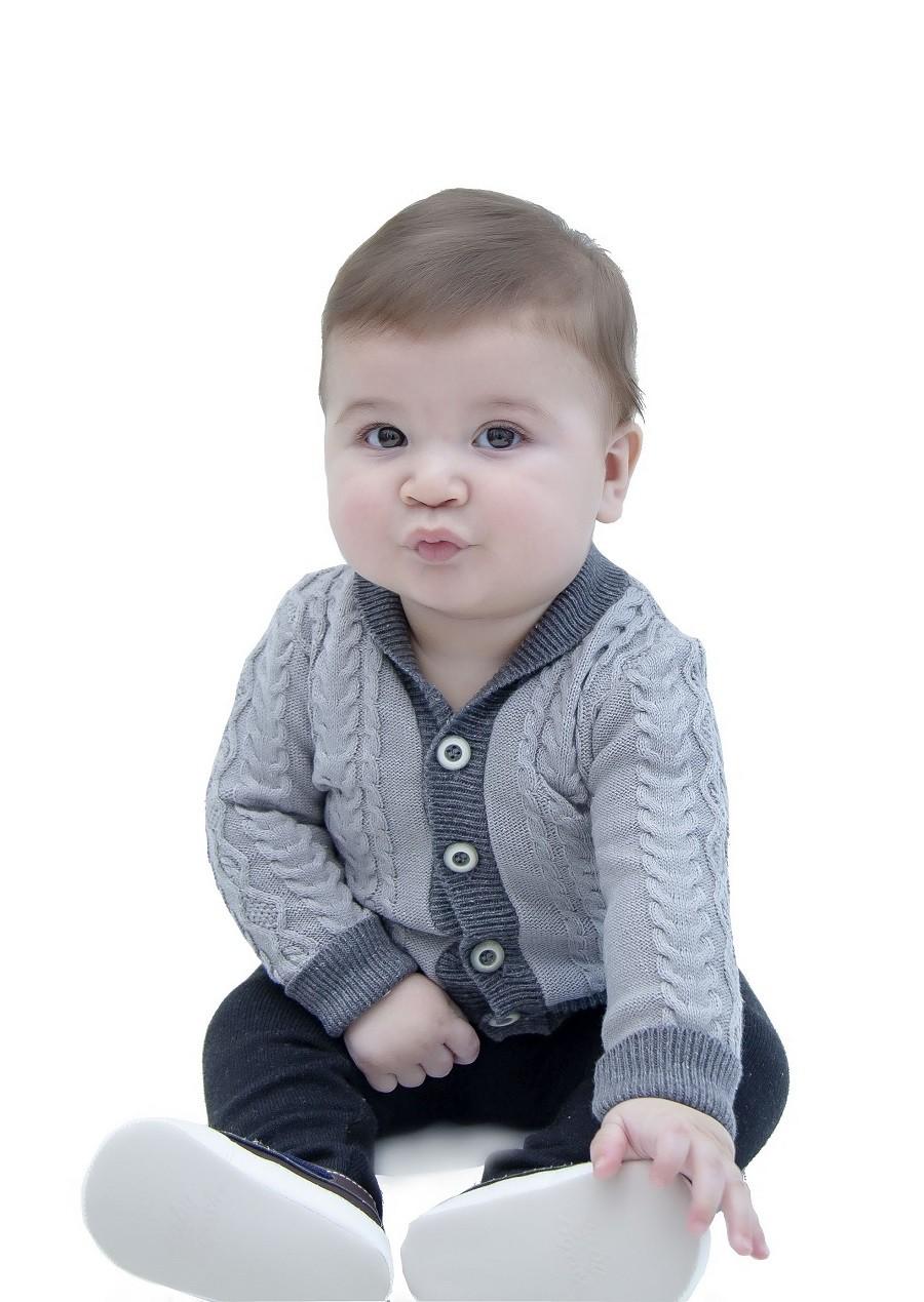 Cardigan Tricot Bebê Menino Julian