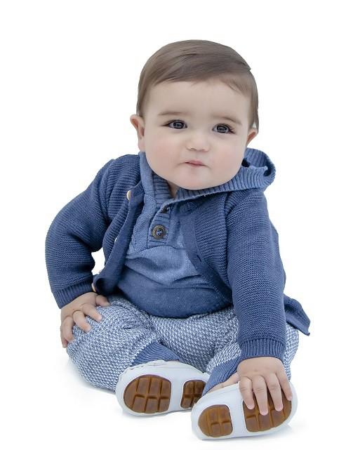 Cardigan Tricot Bebê Menino Murilo