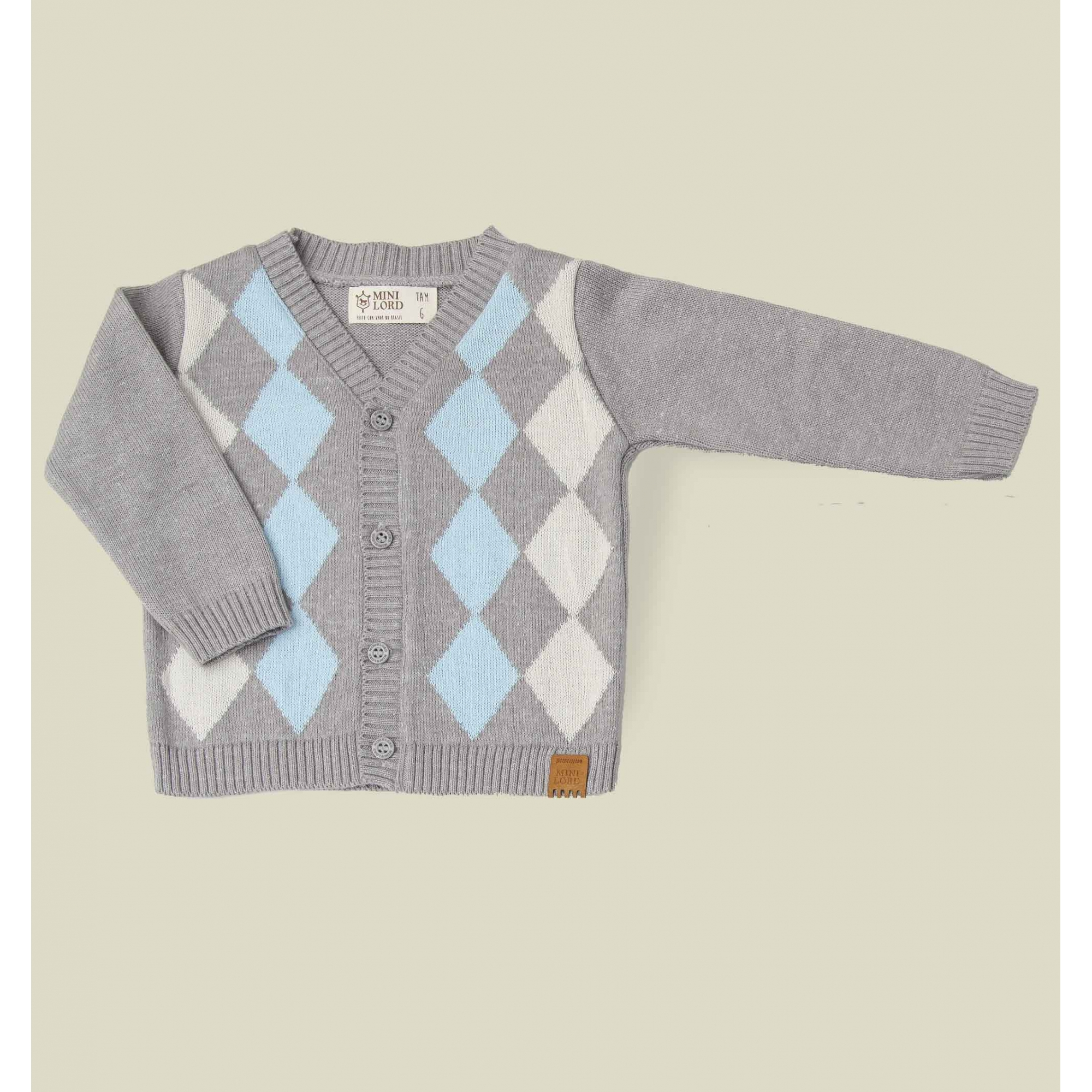 Cardigan Tricot Infantil Bebê Menino Norberto