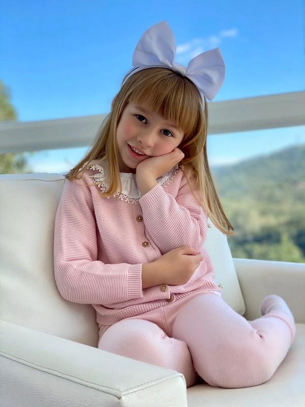 Cardigan Tricot Infantil Menina Lícia