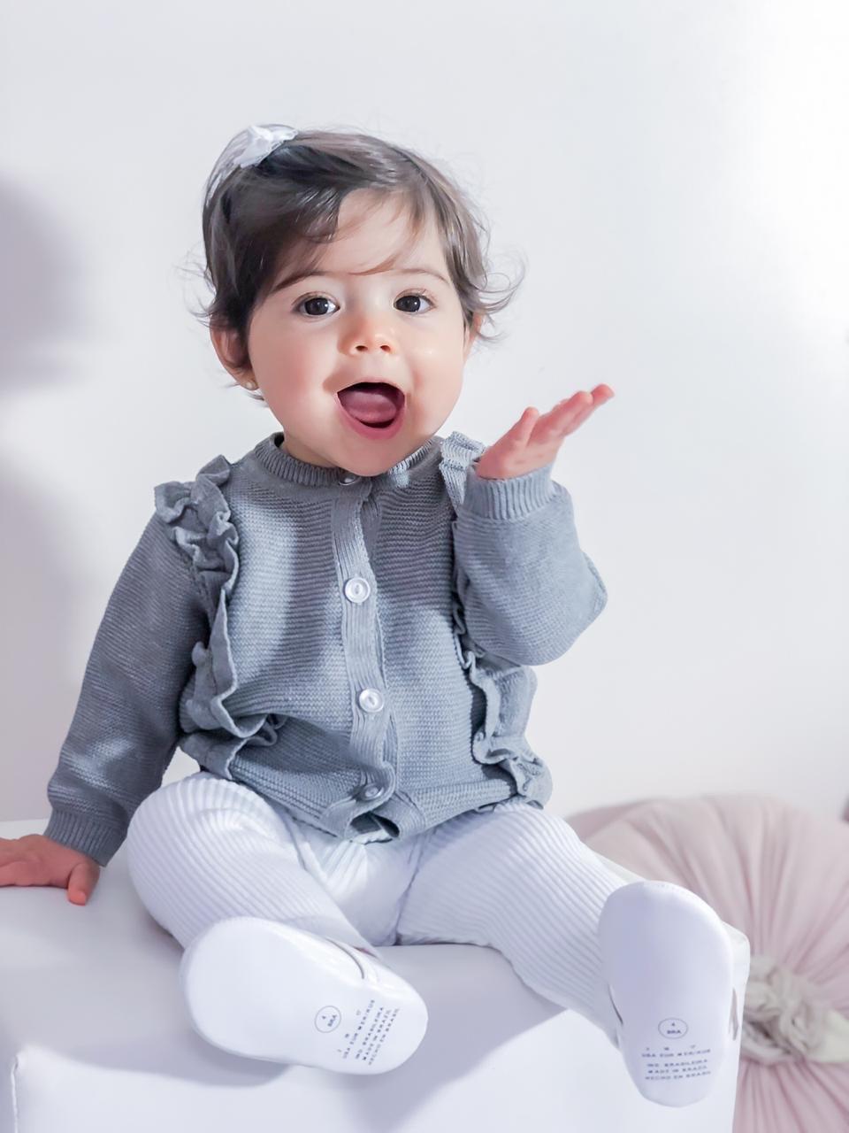 Casaco Tricot Bebê Menina Ruby