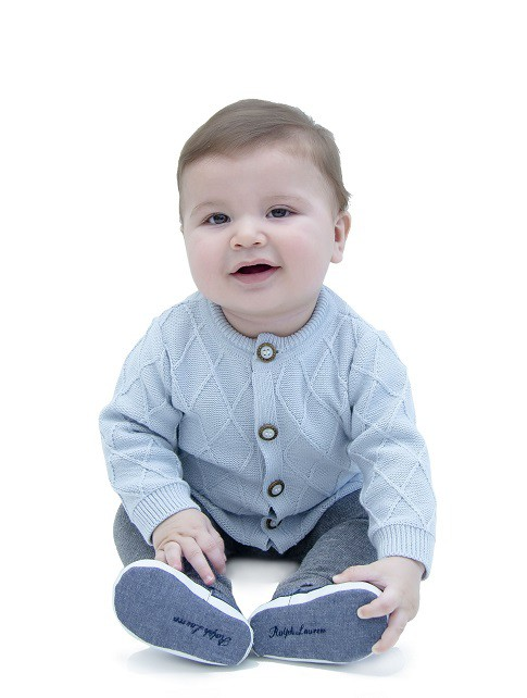 Casaco Tricot Bebê Menino Justin