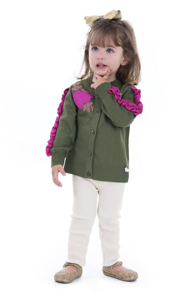 Casaco Tricot Infantil Menina Madeline