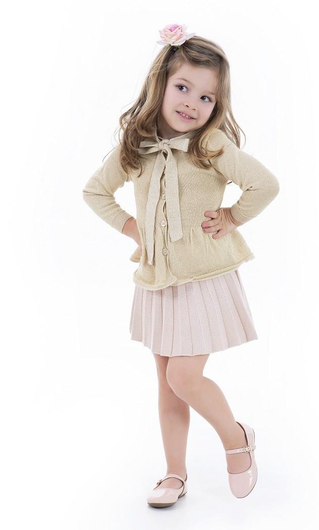 Casaco Tricot Infantil Menina Melody