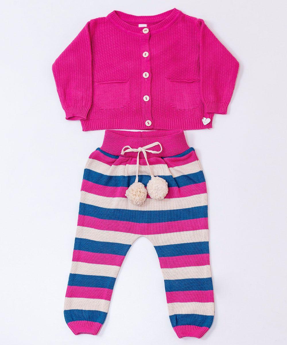 Conjunto Tricot Bebê Menina Iris