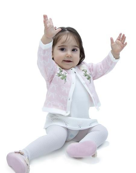 Conjunto Tricot Bebê Menina Melanie