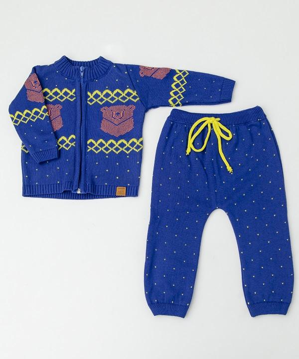 Conjunto Tricot Bebê Menino Cristian