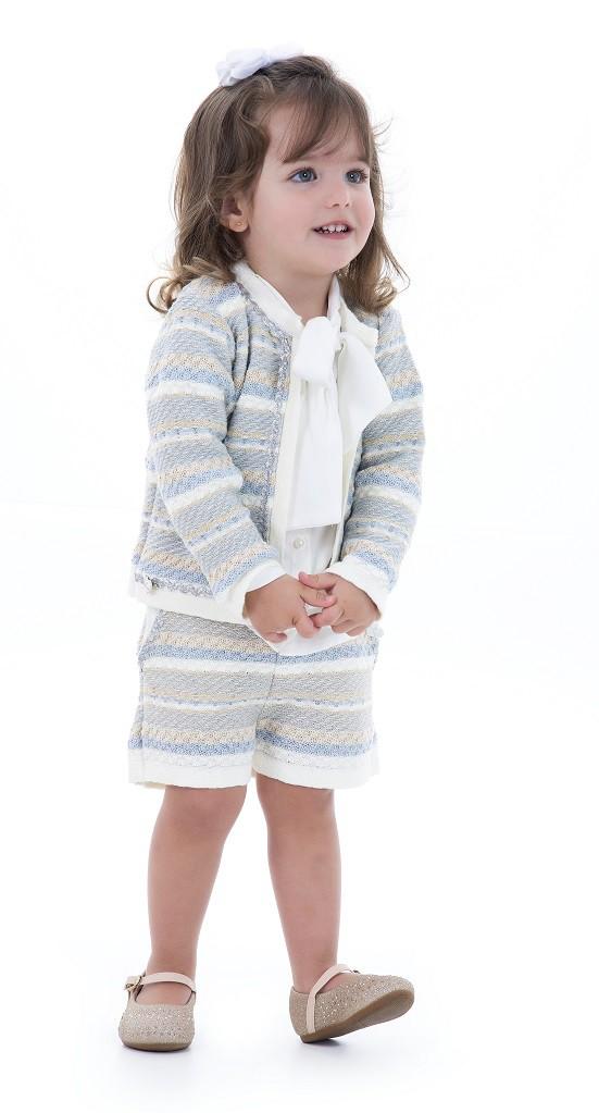 Conjunto Tricot Infantil Menina Josephine