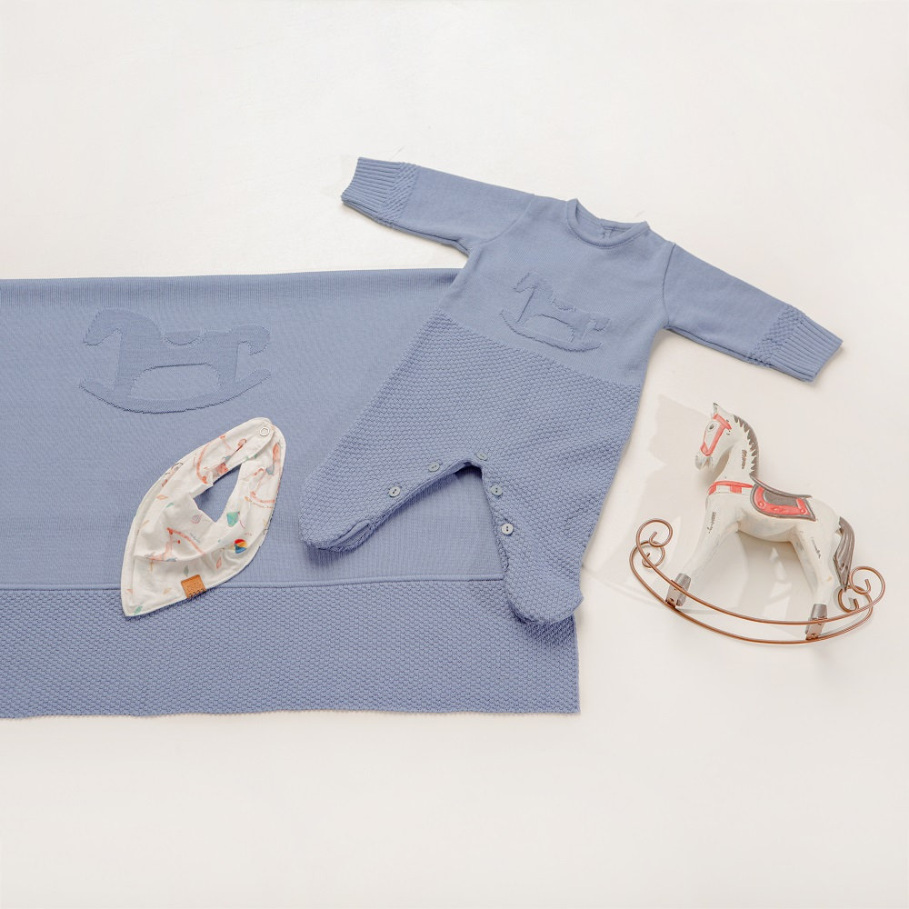 Kit Tricot Saída Maternidade Bebê Menino Diogo