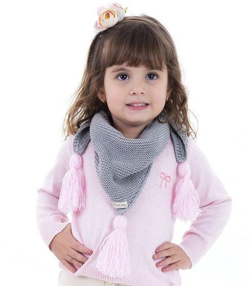 Gola Tricot Infantil Menina Arya