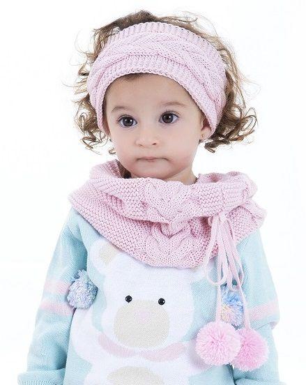 Kit Tricot Infantil Gola e Faixa