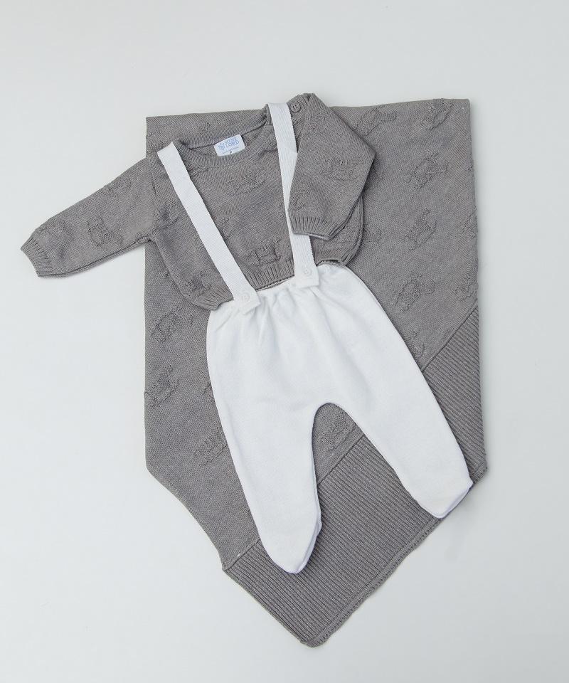 Kit Tricot Saída Maternidade Bebê Menino Luan