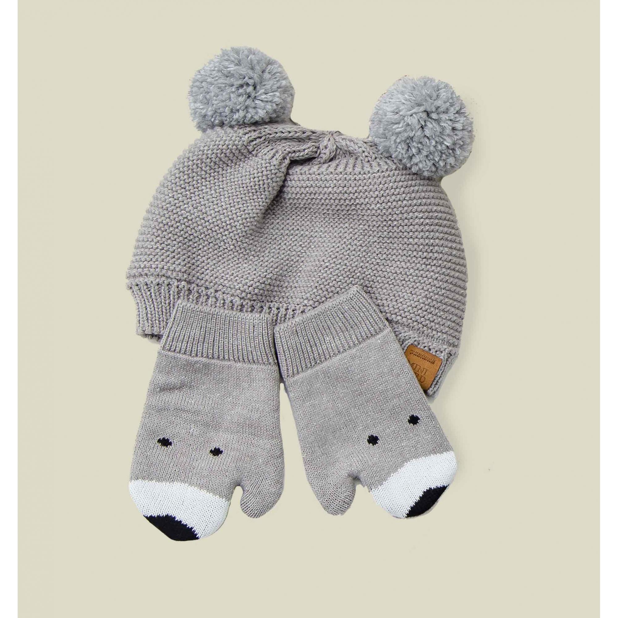 Kit Gorro e Luvas Tricot Bebê Menino Leonardo
