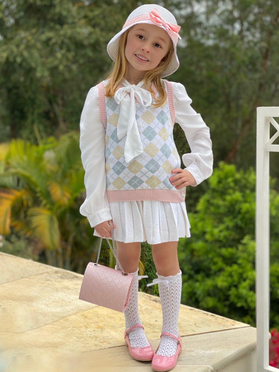 Pullover Tricot Infantil Menina Clara
