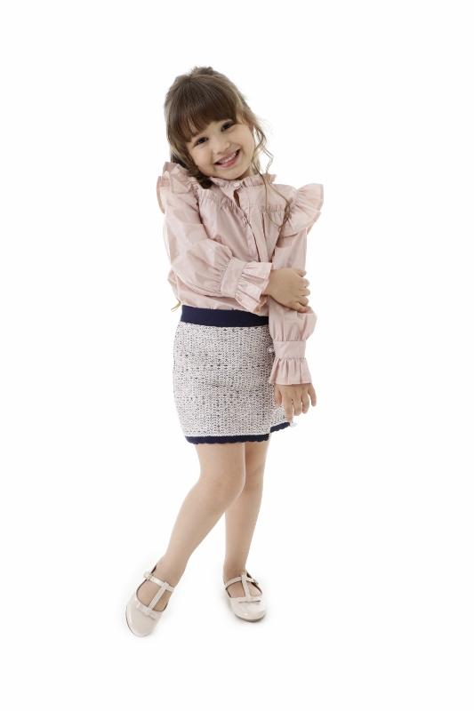 Saia Tricot Infantil Menina Beatriz