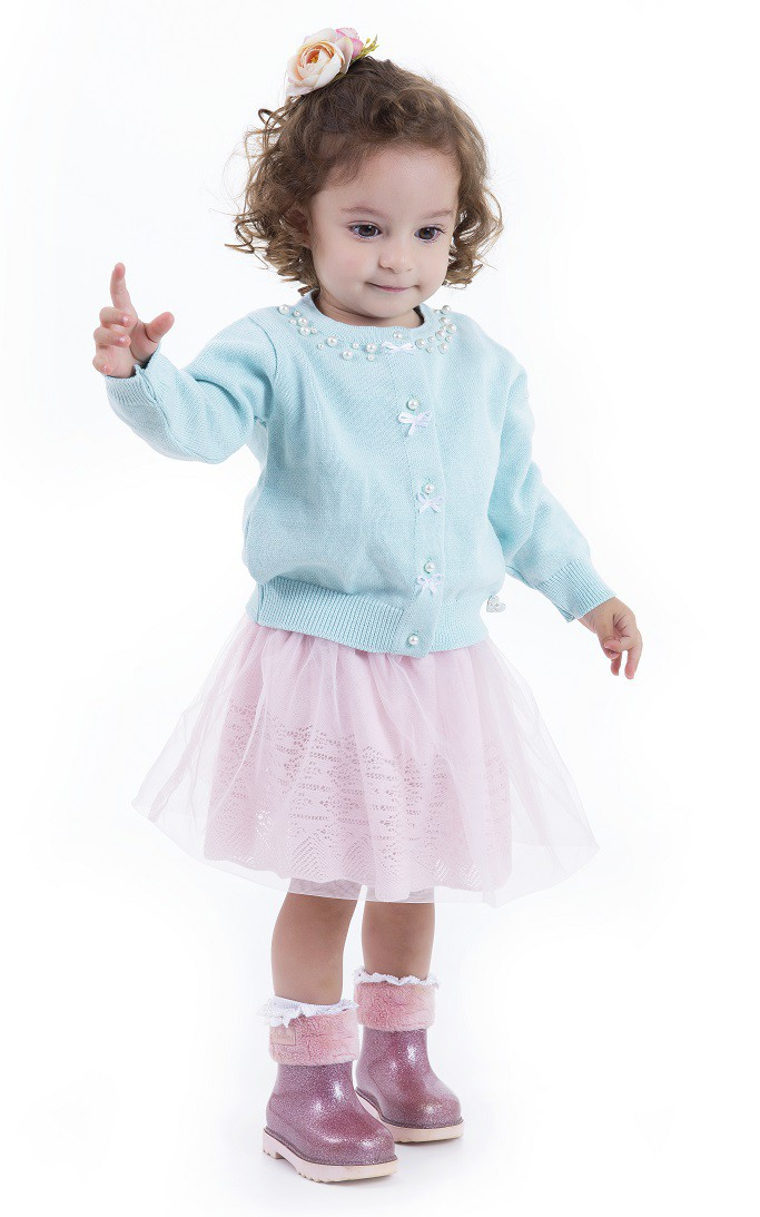 Saia Tricot Infantil Menina Jasmine
