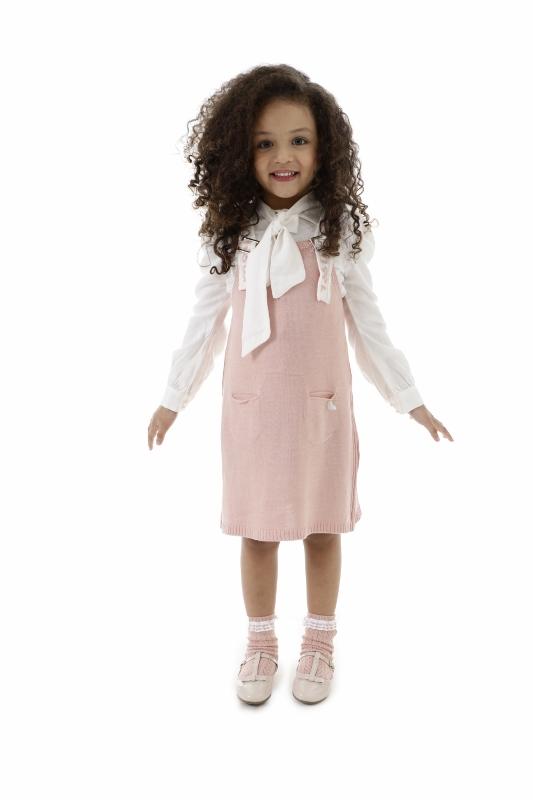Salopete Tricot Infantil Menina Mayara