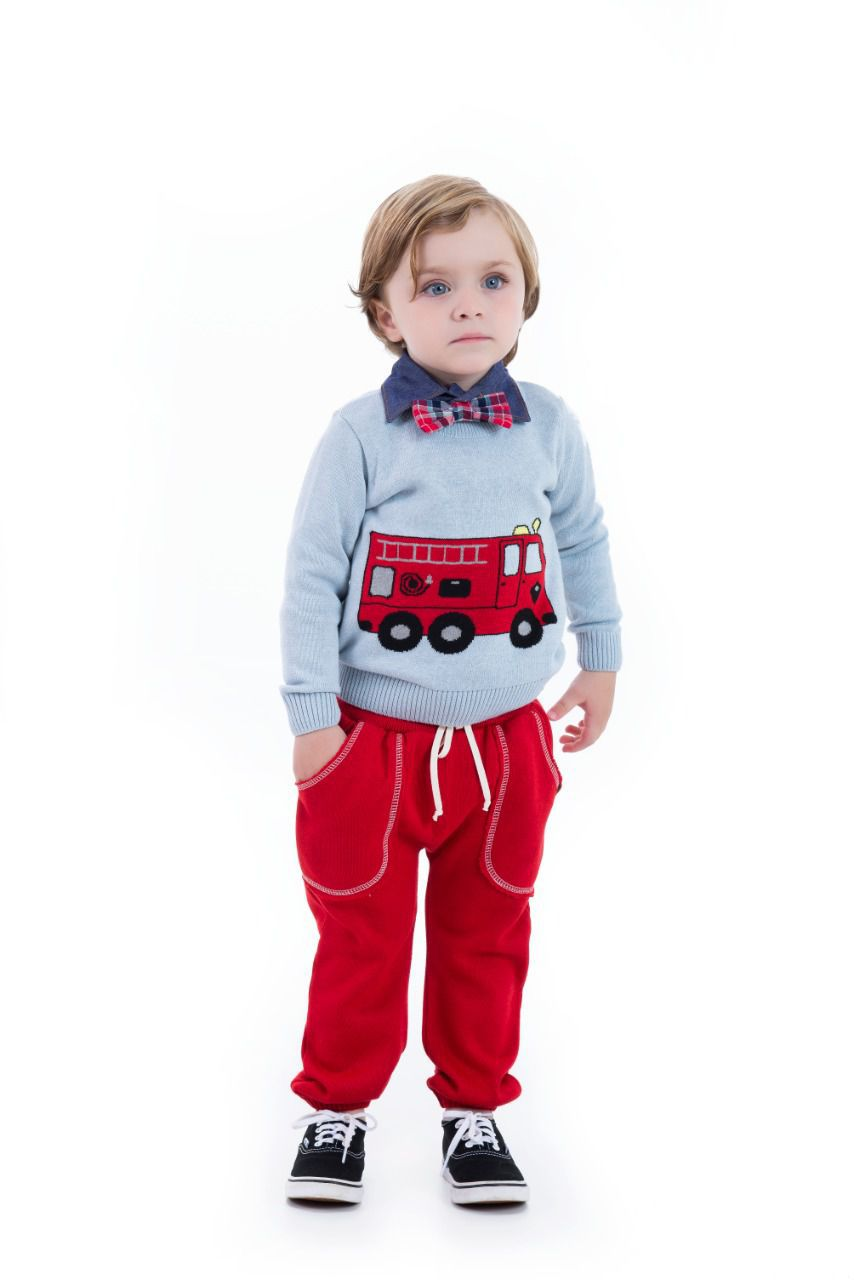 Sweater Tricot Infantil Menino Ian