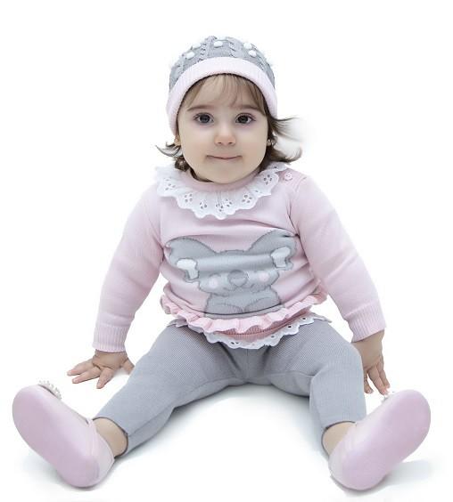Sweater Tricot Bebê Menina Elena