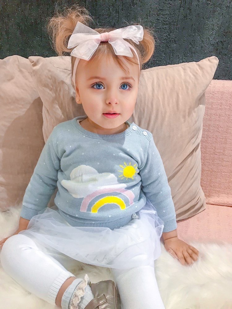 Sweater Tricot Bebê Menina Stella