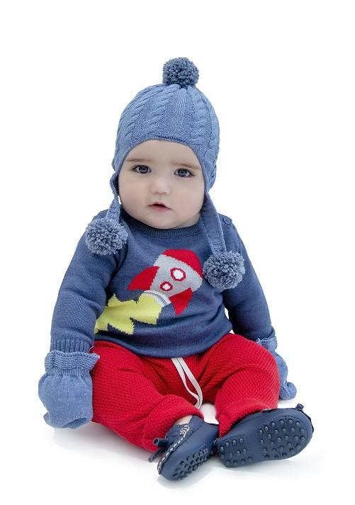 Sweater Tricot Bebê Menino Adam