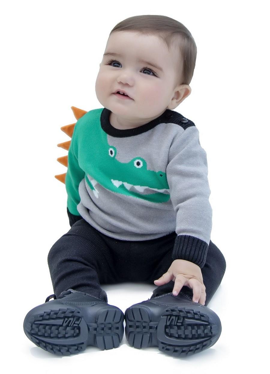 Sweater Tricot Bebê Menino Ben