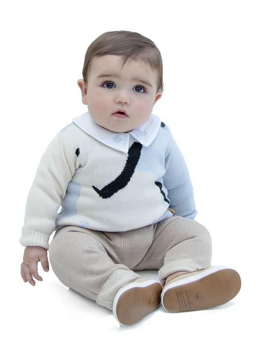 Sweater Tricot Bebê Menino Charlie