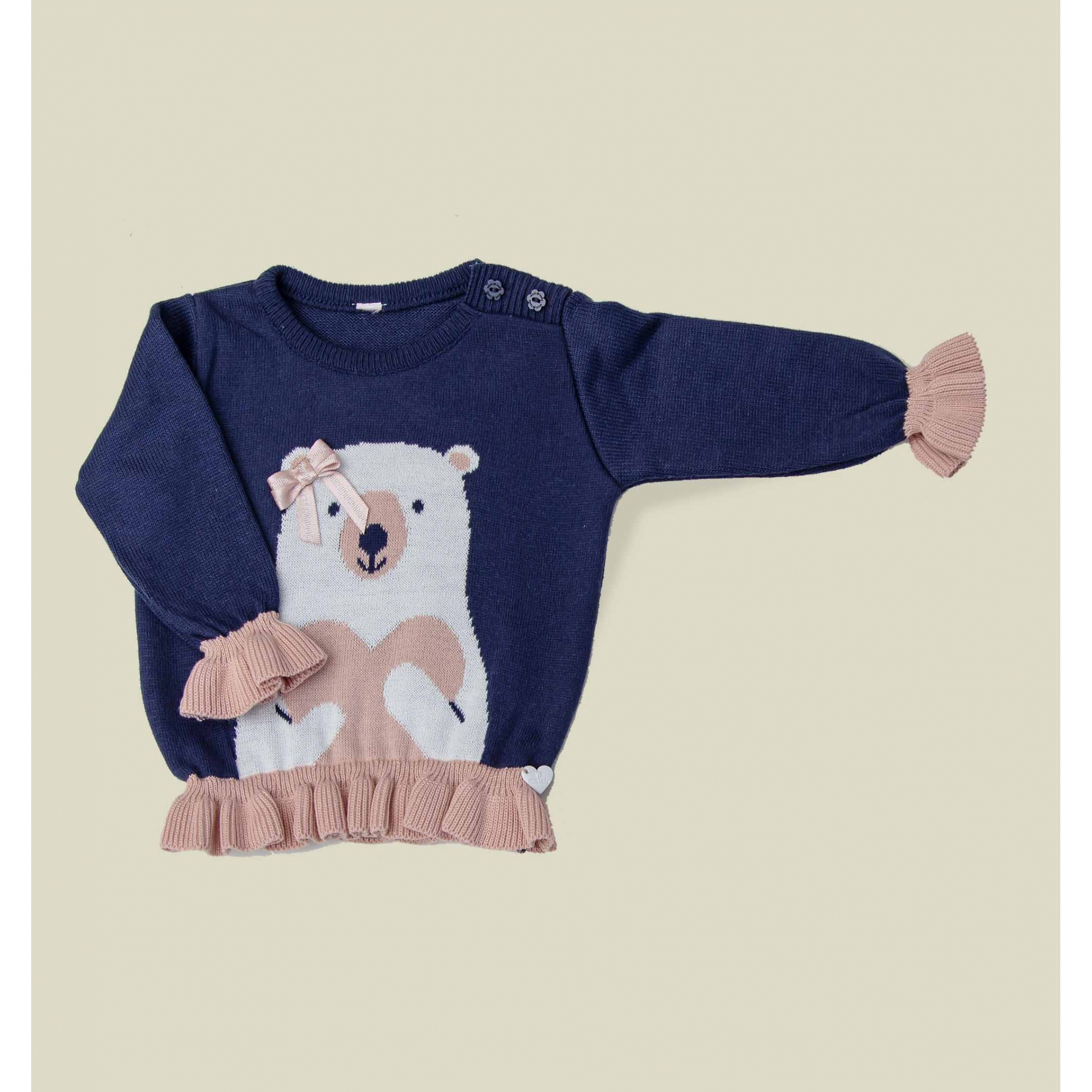 Sweater Tricot Infantil Bebê Menina Mila