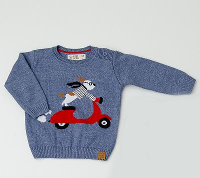 Sweater Tricot Infantil Bebê Menino Enri